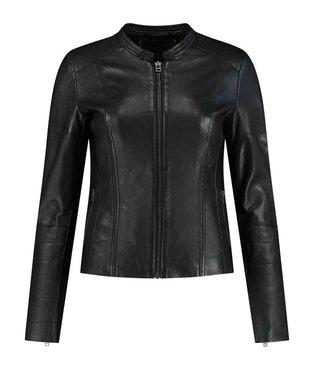 Goosecraft Jacket146 zwart biker jack