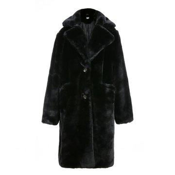 Flirt zwarte winter mantel