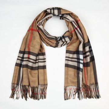 Sjaal panter met ruit print