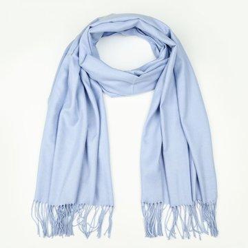 Licht blauwe effen sjaal