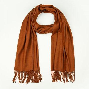 Camel effen winter sjaal