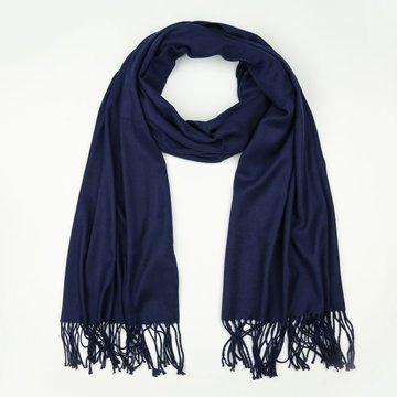 Donker blauwe effe winter sjaal