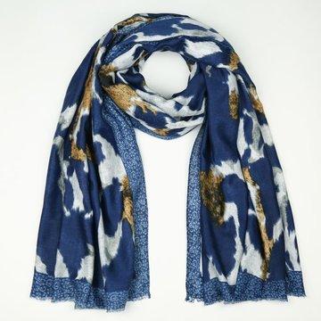 Blauwe sjaal met koe print SH68722