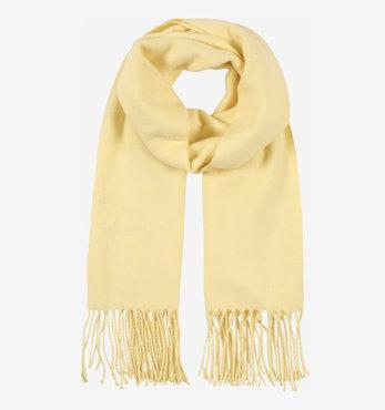Licht gele effen winter sjaal