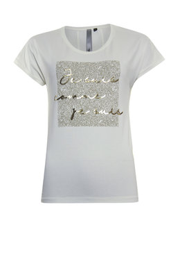 Poools T-shirt tekst Ivory