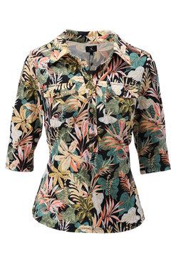 K-Design Top met tropische bloemenprint