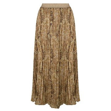 Esqualo Skirt plisse brown paisley