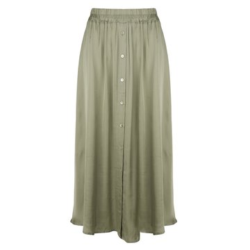 Esqualo Skirt satin buttoned closure