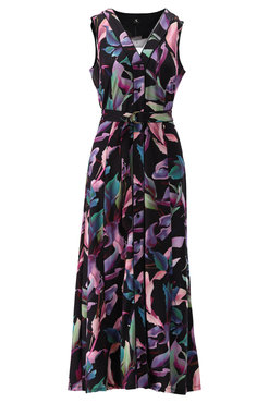 K-Design Maxi jurk met paarse print