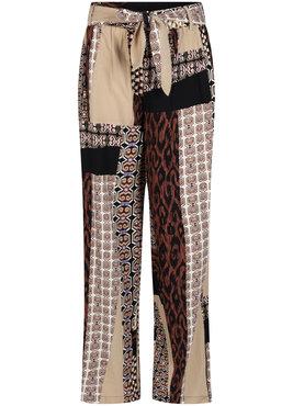 Tramontana Trousers Wide Leg Mix Graphic Print