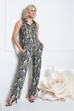K-Design Jumpsuit met slangenprint