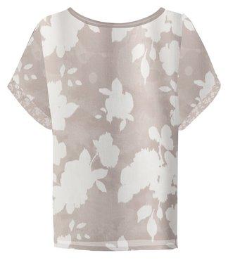 Yaya Satin top with floral print