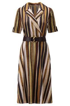 K-Design Streep overslag jurk