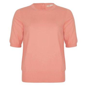 Esqualo Sweater s/slve CB button Coral
