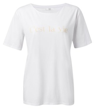 Yaya Cotton T-shirt with quote