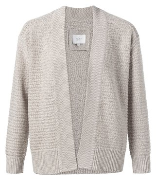 Yaya Cotton structure knitted cardigan