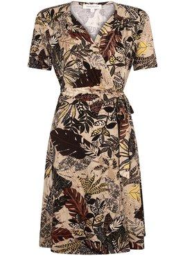 Tramontana Dress Wrap Etnic Leaves Print
