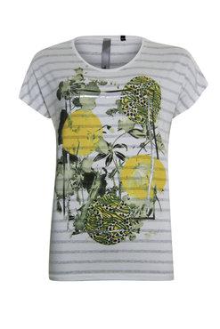 Poools T-shirt met gele print 023106-S01
