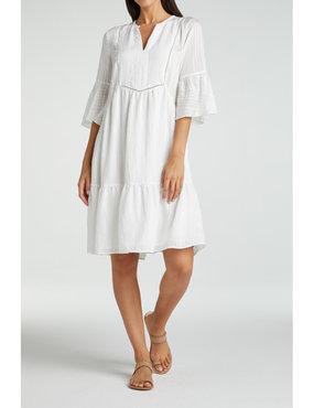 Yaya Midi a-line dress with ruffles in viscose mix