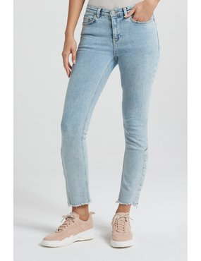 Yaya Straight jeans with buttons