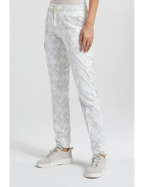 Yaya Jersey jogger pants with floral print