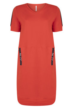 Zoso Angie Sporty dress with techzippers Summer red