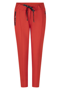 Zoso Sweat pant with techzippers Summer red