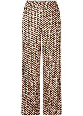 Tramontana Trousers Wide Leg Color Blocks Prt