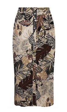 Tramontana Skirt Maxi Etnic Leaves Print