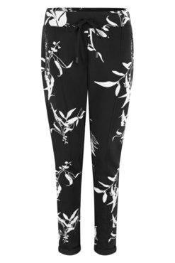 Zoso Jane Allover printed sweat trouser navy