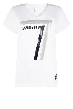 Zoso Britt T shirt with print white