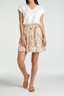 Yaya Viscose printed mini skirt