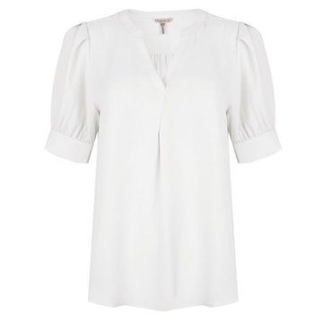 Esqualo Blouse short puff sleeve Off white