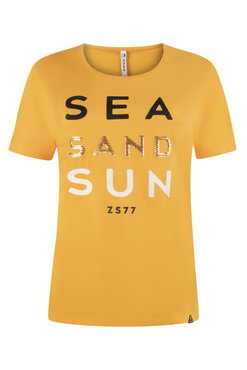 Zoso Sea Summergold T shirt with print