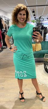 Zoso Tess Green Summer dress with print