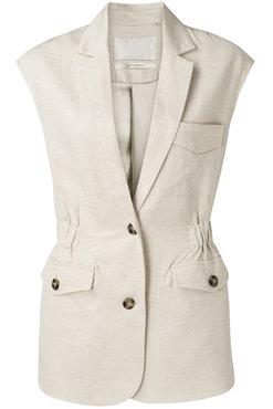 Yaya Dames Gilet sleeveless linen mix blazer
