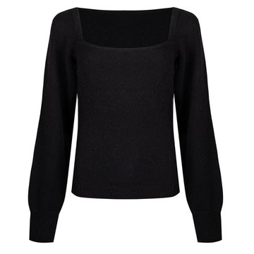 Esqualo Sweater balcon neck Black
