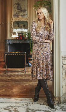 Esqualo Dress paisley print Print