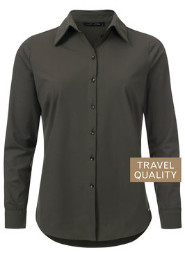 Dayz Becca - Blouse Army Groen in travel stof