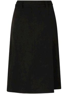 Tramontana Skirt Midi Suedine Black