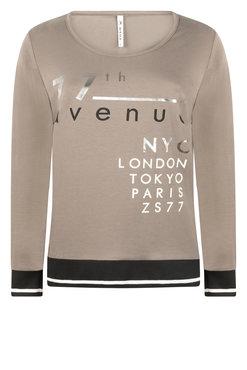 Zoso Paris Taupe Shirt with print