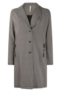 Zoso Madeline Black Printed sporty long blazer