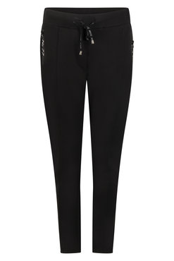Zoso Hope Black Sweat pant with techzippers