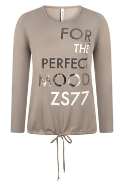 Zoso Mood Taupe Shirt with print