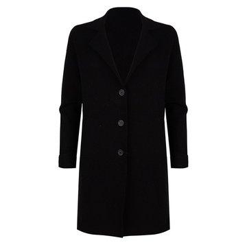 Esqualo Cardigan blazer long Black