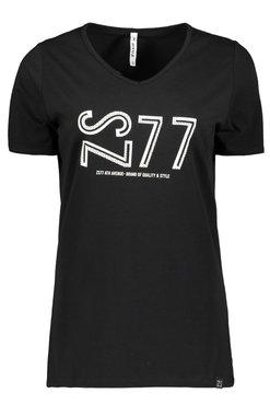 Zoso Jane Black T shirt with print