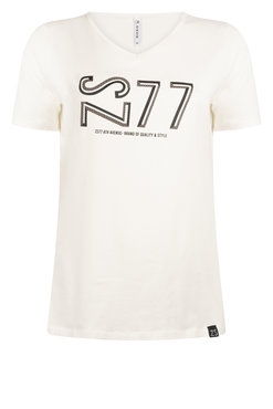 Zoso Jane Taupe T shirt with print