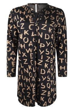 Zoso Wonders Black Allover printed dress