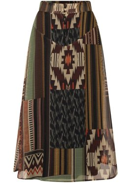 Tramontana Skirt Chiffon Kilim Heritage Print
