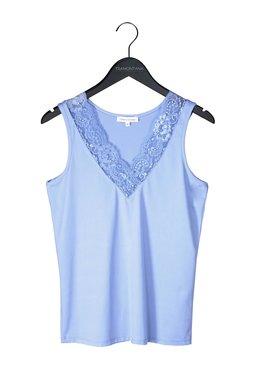 Tramontana Basic Top V-Neck Lace  Ice Blue